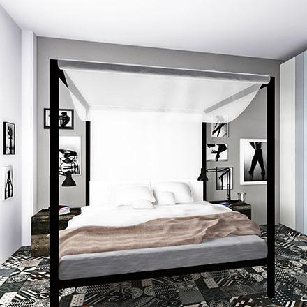 sypialnia cover proste wnętrze