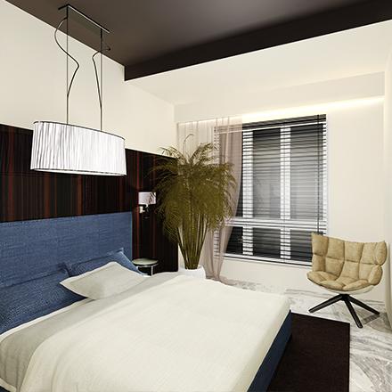 sypialnia w willi w omanie IV proste wnętrze (1)