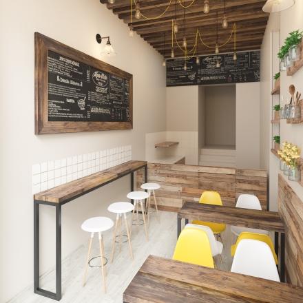 projektowanie wnętrz restauracji Vegab w Krakowie na Starowiślnej