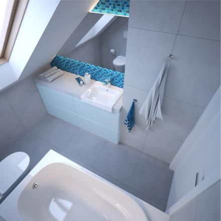 łazienka dziecięca od projektant wnętrz z Krakowa