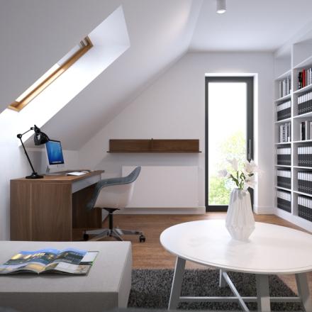 home office w Krakowie - projekt autorstwa www.ProsteWnetrze.pl