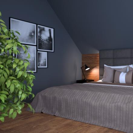 sypialnia w czerni wg projektant wnętrz M.Podobińska