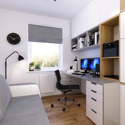 projektowanie wnętrz domowego biura