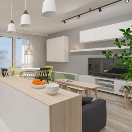 projekty wnętrz małego krakowskiego mieszkania