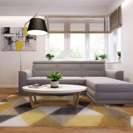 nowoczesny salon zaprojektowany przez projektant wnętrz