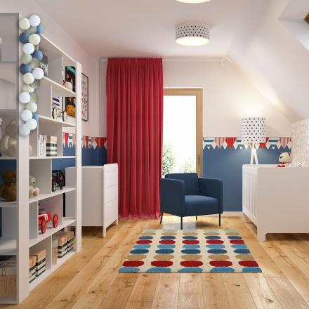 projejektowanie wnętrz pokoju dla chłopca w Krakowie