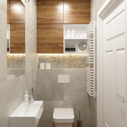 łazienka z plytka dywanowa