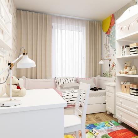 projektowanie wnętrz pokoju dla Hani z Krakowa