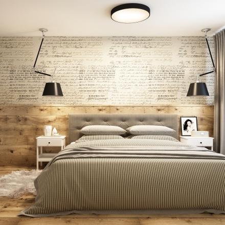 projekt wnętrza sypialni - osiedle Bronowice - Kraków