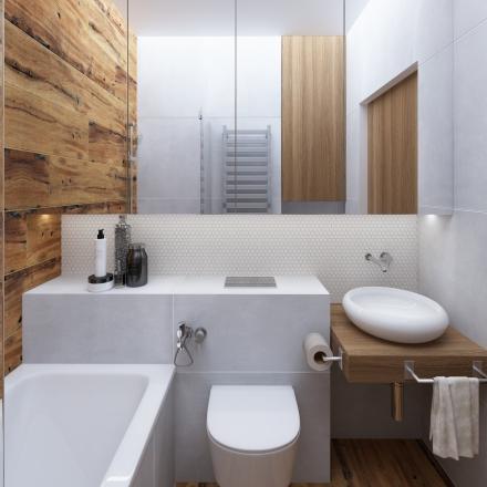 Projekty wnętrz łazienki z mozaiką - Kraków