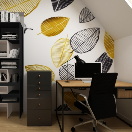 home office - Kraków projektowanie wnętrz