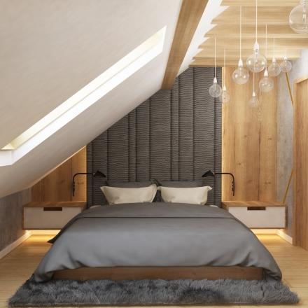 projektowanie wnętrz sypialni na poddaszu