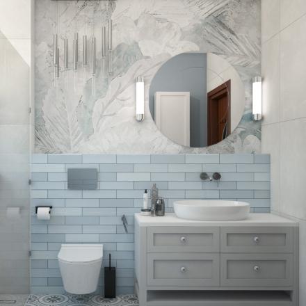 projekty wnętrz łazienki w stylu hiszpańskim