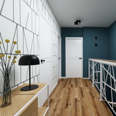 kolorowy hall i klatka schodowa - projekty