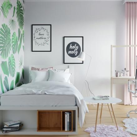 projektowanie pokoju dla dziewczynki w Krakowie